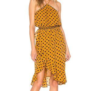 x REVOLVE Baye Midi Dress in Saffron Polka Dot